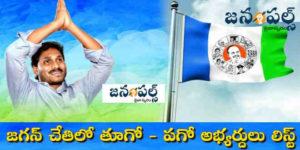 East and West Godavari YSRCP candidates list by Jagan hand