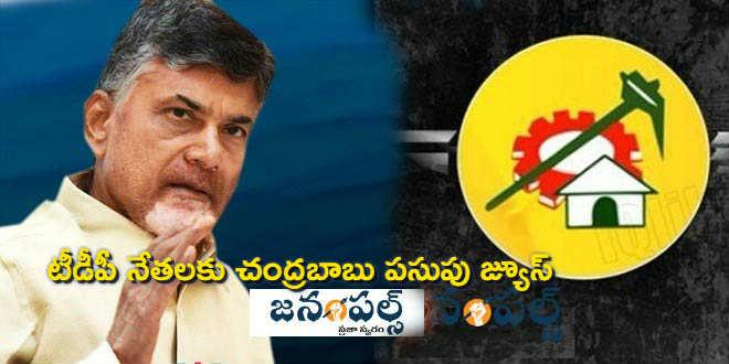 Chandrababu yellow juice for TDP leaders