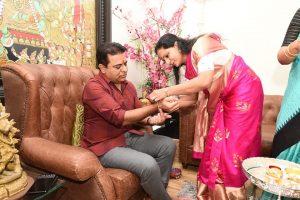 KTR Rakhi Celebrations with her Sister Kavitha
