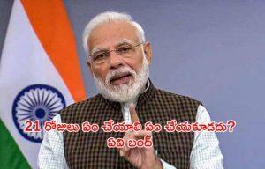 21 days lockdown india